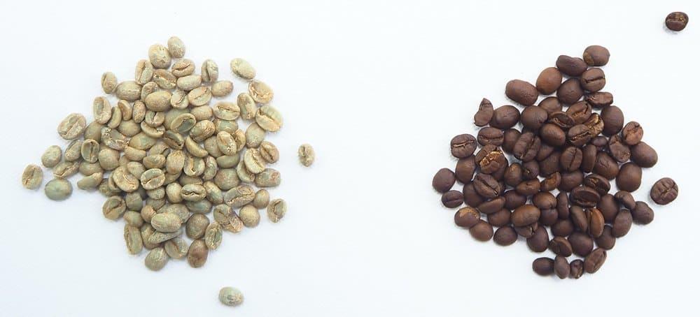 white vs black coffee beans