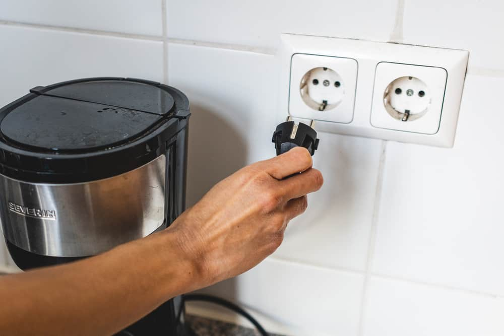 unplug coffee maker